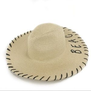 73f724cee16a4 bp Accessories - Yolo Beaches Pom Straw Panama Hat!